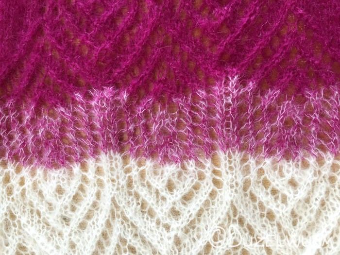 Farbverlauf Pink Weiß