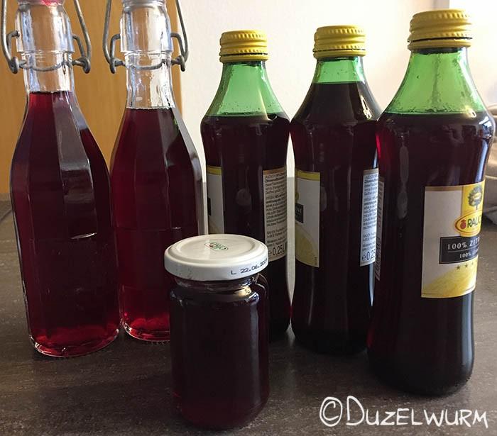 Sirup in Flaschen