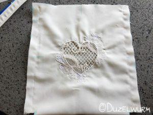 Brauttasche Seitennaht außen