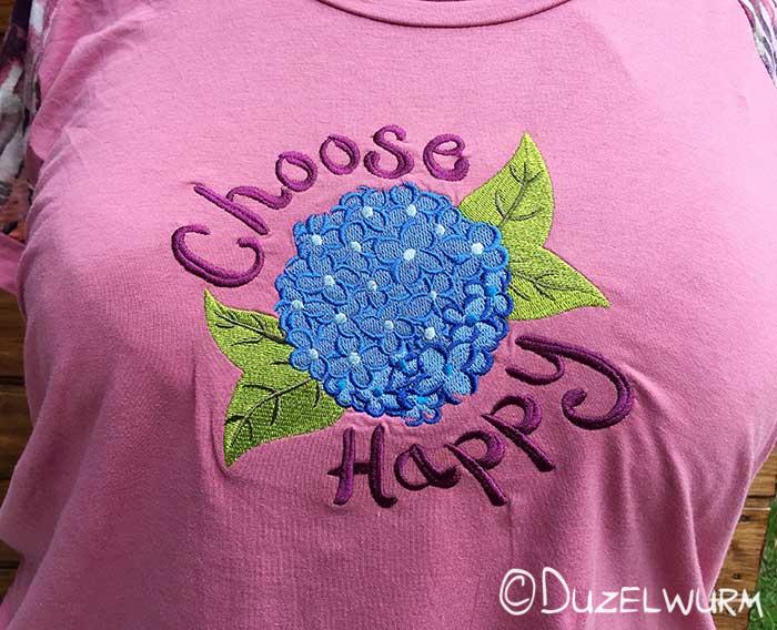 Rosa Shirt Stickerei