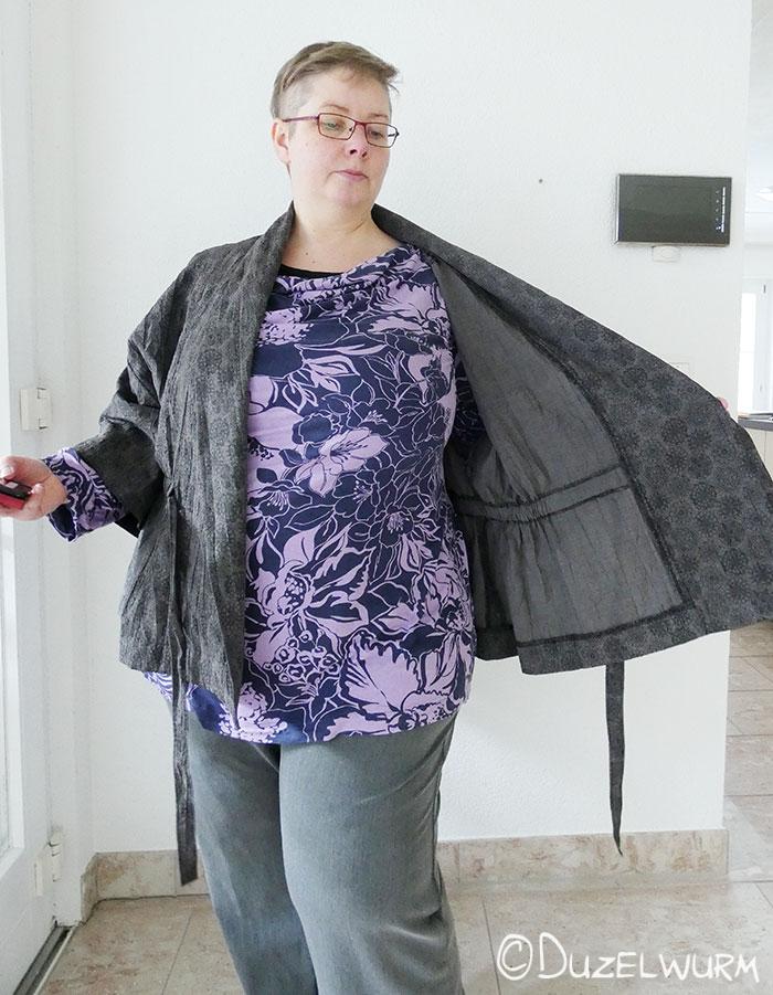 Kimono Tragefoto offen innen