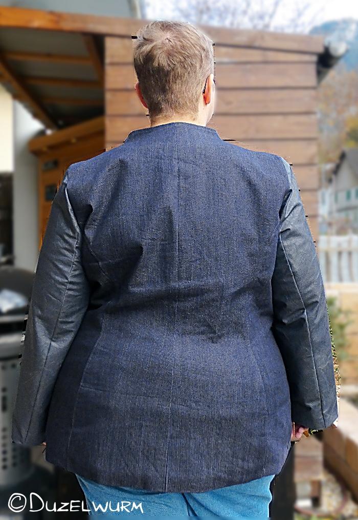 Plus Size Jacke Rückseite