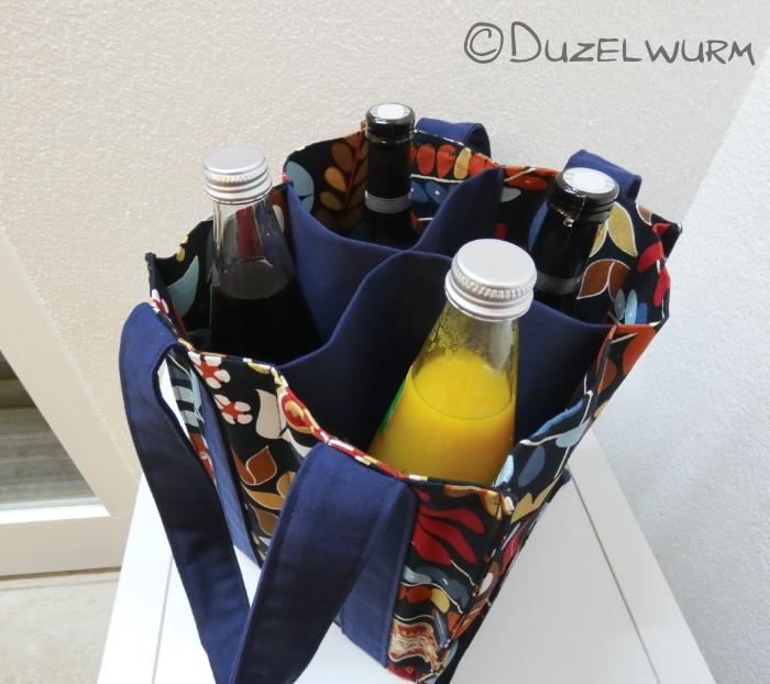 Flaschentasche fertig und befüllt